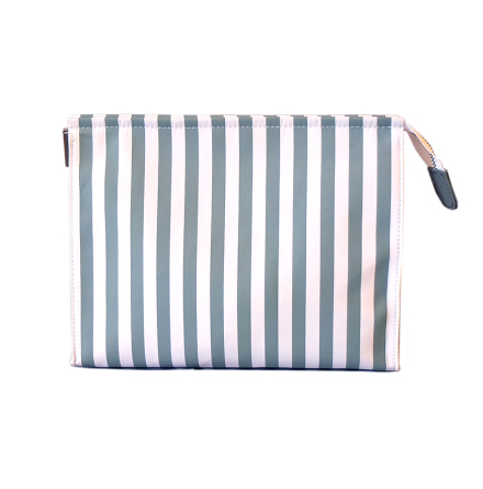 Cosmetic Bag Large Gray/White striped, without logo